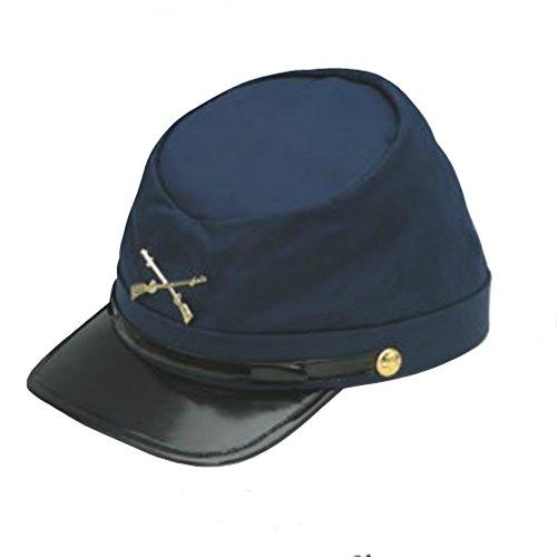 Union Bonnet Bleu Marine Armée Fédérale Casquette en coton USA soldat costume Képi Guerre Civile