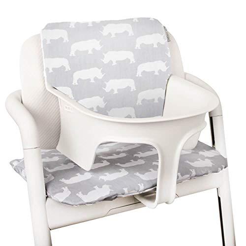 Baby Sitzkissen Sitzverkleinerer für Cybex Lemo Hochstuhl von UKJE Beschichtet Nashorn Praktisch und dick gepolstert Maschinenwaschbar 2-teilig Öko-Tex Baumwolle