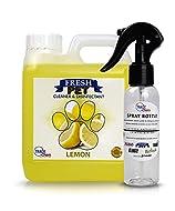 Trade Chemicals Fresh Pet Disinfectant 1L with Spray, Deodoriser, Cleaner (LEMON)