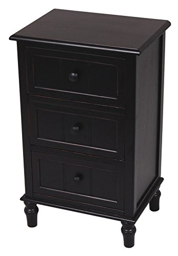 Décor Therapy Three Drawer Accent Table Oak Black