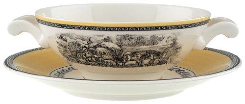 Villeroy & Boch Audun Ferme tasse à bouillon, 18 cm, Porcelaine Premium, Blanc/Multicolore