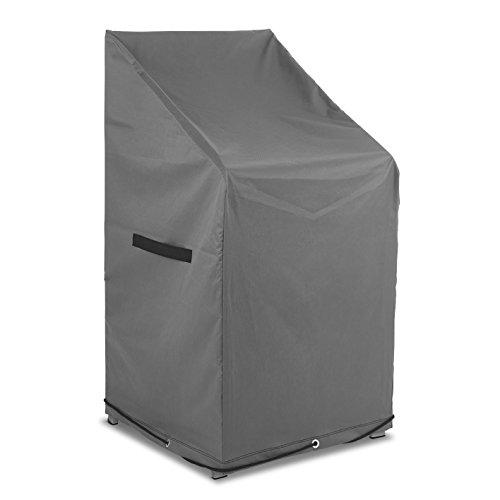 PRIMA GARDEN Abdeckhaube für Gartenstühle (Verbesserte Version 2019) | 65x65x120/80 cm | 600D Polyester | Wasserfest | Abperleffekt | UV-resistent, Robust