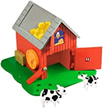 Educational Insights Bright Basics Busy Barn, Busy Board Playset, Toddler Toys, Ages 2+