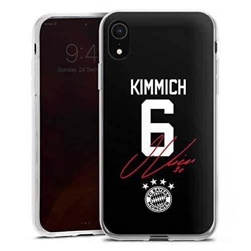 DeinDesign Silikon Hülle kompatibel mit Apple iPhone Xr Case transparent Handyhülle FC Bayern München FCB Kimmich
