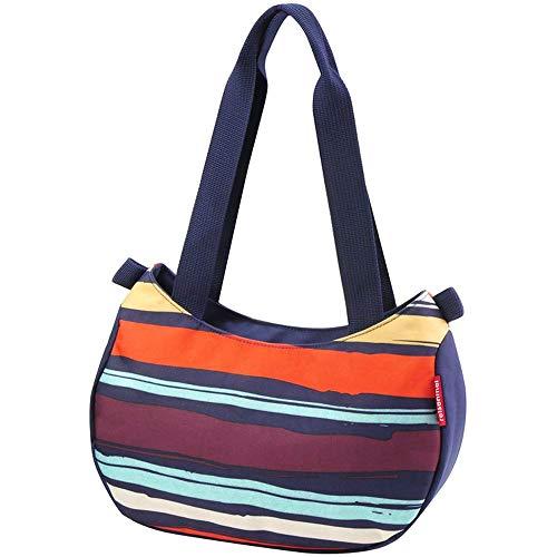 KlickFix Stylebag Sac de Guidon Femme, Rayures artistiques, 4 l