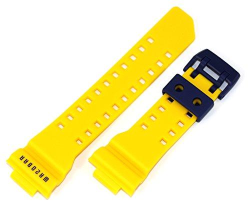 Casio 10482079 - Cinturino di ricambio originale in resina, adatto a GA-400-9B GA-400-9BV