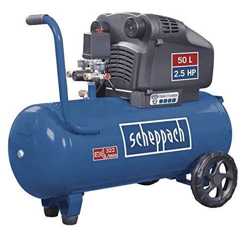 scheppach set HC54DC Kompressor mit Aero² Spade 5in1 Werkzeug und 15m Schlauch