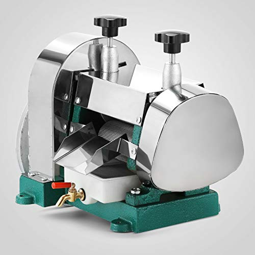 Made Of 304 Stainless Steel, Manual Sugar Cane Ginger Press Juicer Juice Machine Commercial Extractor Mill, Easy To Operate, Handwheel, Muti-Gear Rotation, Save Time and Energy, Healthy and Safe,