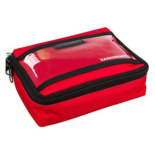 SANISMART Ampullarium S Nylon 19 x 14,5 x 6 cm für 50 Ampullen, Farben:Rot