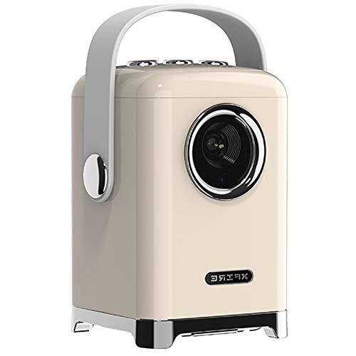 Proyector Portátil, Soporta 1080p Full HD, Cine en Casa 300', Altavoz Estéreo de 360 ° y Función Bluetooth, Experiencia de Película Superior, Diseño Portátil, Amplia Compatibilidad,Blanco