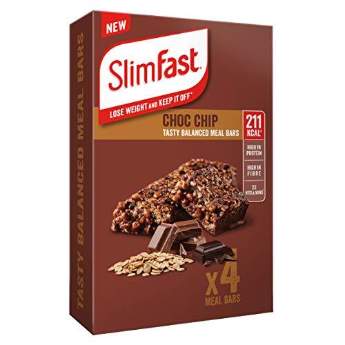 SlimFast Meal Bar Multipacks, Choc Chip, 4 X Multipacks (16 Bars Total), Packaging May Vary