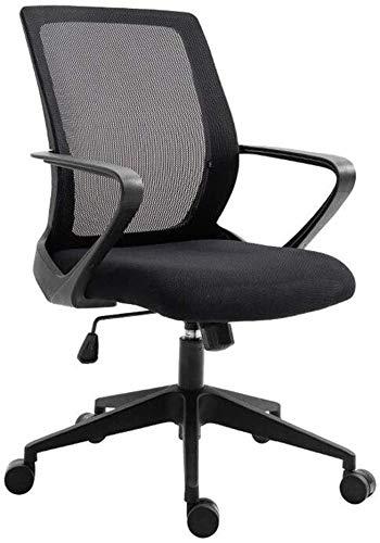 G.S.N. GSN Einstellbare Höhe Kippfunktion Grad-Schwenker-Computer-Schreibtisch-Breathable Ineinander greifen Tuch modernes Erscheinungsbild Ineinander greifen Sessel (Color : Black)
