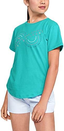 Under Armour Girls Strength and Heart Short-Sleeve T-Shirt