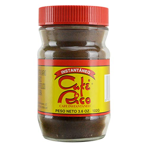 Cafe Rico Regular Instant Coffee, Medium-dark Roast, in Glass Jar, 3.6 Ounce (Pack of 1)