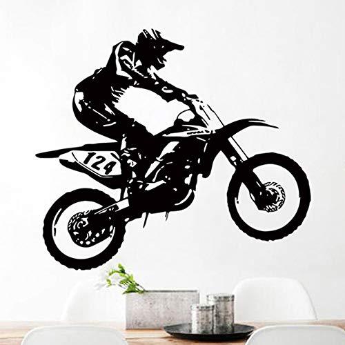 Adesivi Murali Topgrowth Decorazioni Camera Motocross Della Motocicletta Sticker Da Parete Fai Da Te Adesivo Personalità Sfondo Decorazione Della Finestra