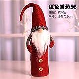 HAOYUN Decoración navideña Set de Vino Rudolph Creativo Bolsa de Botella de Vino de Navidad Set de Botella de champán artículos de decoración