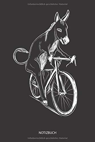 Notizbuch: Esel fährt Fahrrad - Liniertes leeres Esel Notizbuch / Journal für Notizen und Ideen. Lustiges Esel Zubehör für Esel Liebhaber. Tolles ... & Esel Geschenk für Damen, Herren & Kinder.