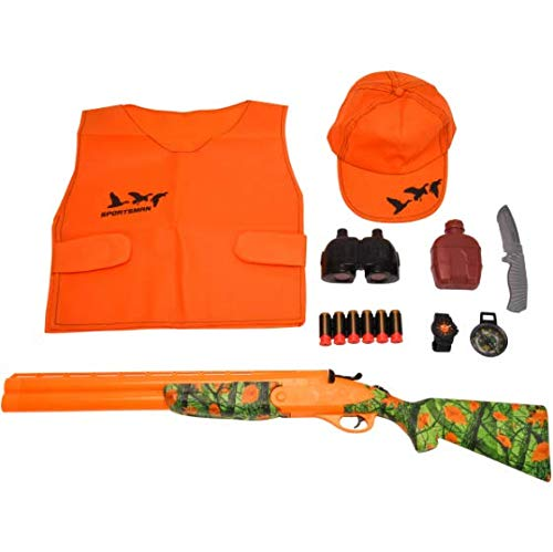Adventure Force 15-Piece Light & Sound Sportsman Deluxe Hunting /Action Roleplay Set, for Children Ages 5 & Up