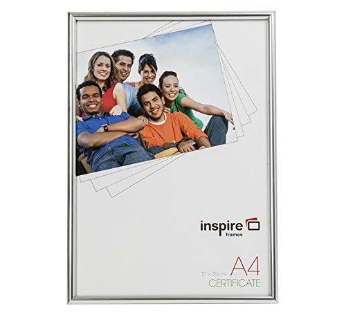 Sie für das Geschäft blra4sv Rückenladen Silber Effekt a4 21x30cm Zertifikat Foto-Anzeige Bilderrahmen Glasfront