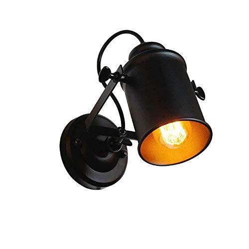 Yifuty Negro de Techo lámpara de Pared, Café Restaurante de iluminación, Bar Retro lámpara de Mesa, peluquería Creativa Cocina de la Granja de la Sala de iluminación Decorativa 17 * 15cm