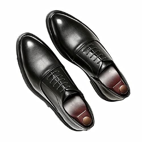 Zapatos Formales para Hombre Vintage Puntiagudo Ligero con Cordones Oxfords Negocios Boda...