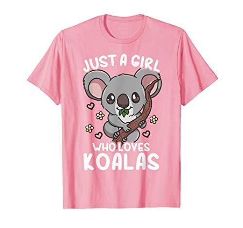 Koala Just a Girl Who Loves Koalas T-Shirt
