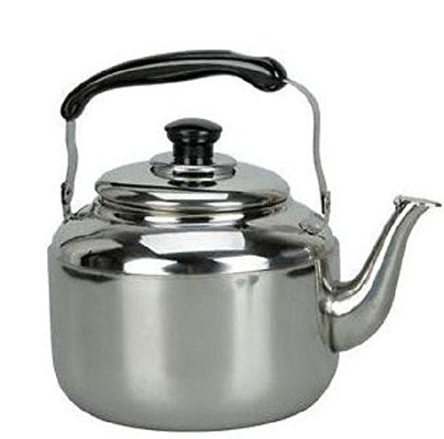 Stainless Steel Tea Kettle 4L Hot Water Stovetop Classic Design Hums When Water Boils