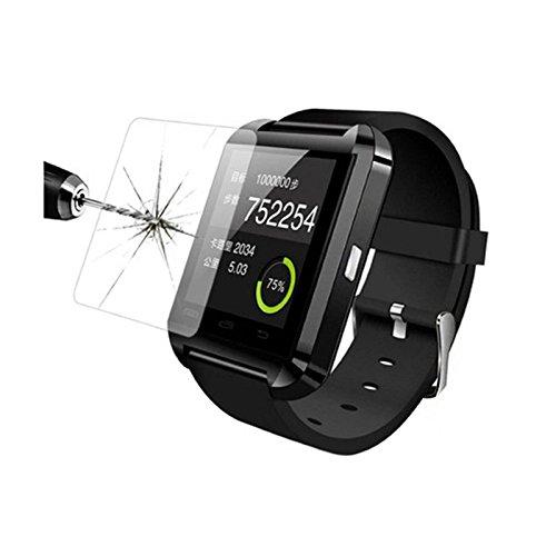Auntwhale 1 PC Película de vidrio templado antirrayas Arc Glass Conveniente para U80 Smart Watch
