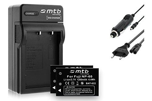 2 Baterìas + Cargador (Coche/Corriente) para Fuji NP-60 / Casio NP-30 / Drift HD 1080p / Toshiba BT3. - Ver Lista