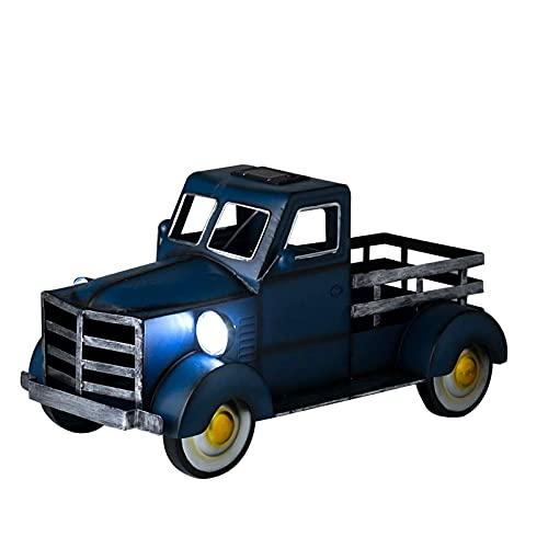 Floepx Retro Style Pickup Truck dekoracja ogrodowa na biurko, doniczka na kwiaty, roślina magazynowa rośnie wewnątrz i na zewnątrz w ogrodzie, urocza doniczka Pickup Truck - 30 cm x 18 cm x 18 cm x 18 cm