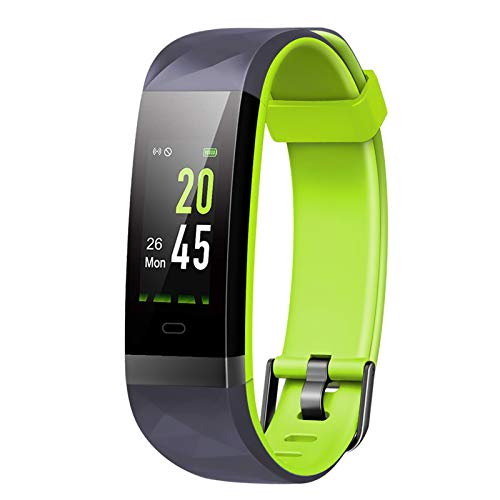 Lintelek Fitness Tracker, Home Exercise Activity tracker, IP68 Waterproof, Heart Rate Monitor,Smart Watch, Calorie Counter, Slim Pedometer for Kids Women Men