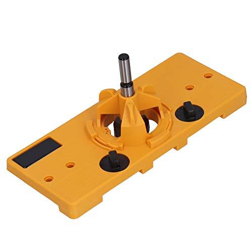 Localizador de orificios de bisagra, guía de perforación amarilla práctica y duradera, puerta de armario de 35 mm para el hogar