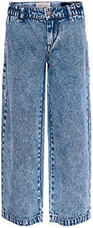ONLY Girl Cropped Jeans KonLisa Wide Acid