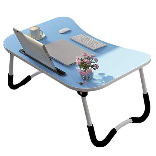 Laptopbed tafel ronde staande tafel voor bed en bank ontbijt bed laptop ronde bureau klap ontbijt serveren koffie dienblad notebook staander leeshouder voor bank vloer kinderen blauw