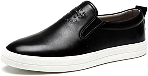 zapatos de cuero invierno otoño moda tendencia mocasines cuero casual personalidad de los hombres