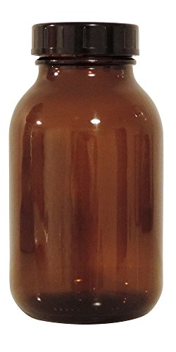 mikken braunes 1x 500ml inkl. Schraubverschluss & Etiketten Made in Germany Apothekerglas, Glas, 1, 12-Einheiten