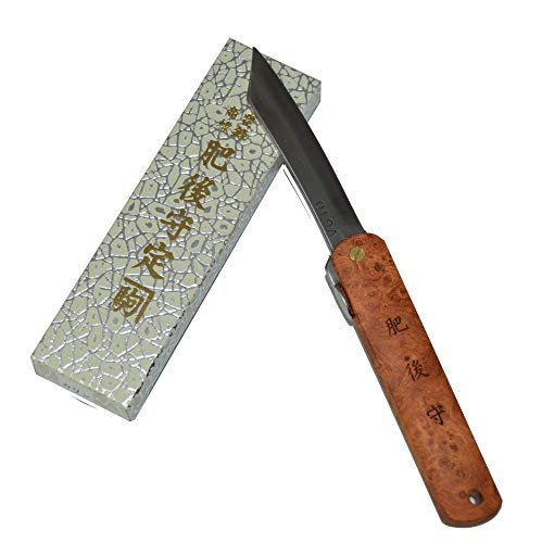 Higonokami Japanisches handgefertigtes Klappmesser Taschenmesser Paddock-Holzstiel VG-10 Klinge Handgefertigt in Japan von Nagao Kanekoma