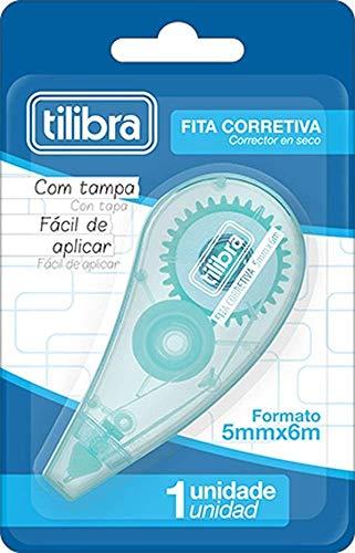 Corretivo em Fita 5mmX6m, Azul Aqua, Tilibra, 301884