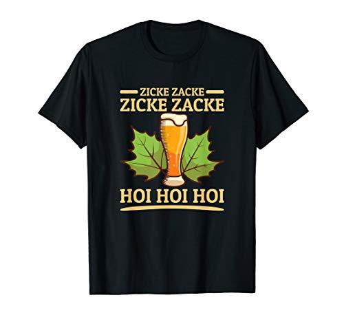 Zicke Zacke Hoi Hoi Hoi Oktoberfest Bier Trink Sprüche T-Shirt