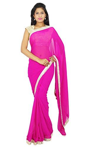 Indianbeautifulart Sari Boda Bollywood Partido Indio tnico Use Sari diseador del Vestido Georgette
