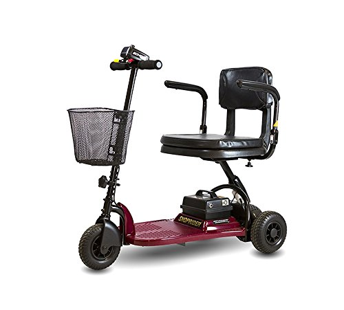 Shoprider Echo 3 Wheel Scooter, Red, 70 Pound, Burgundy