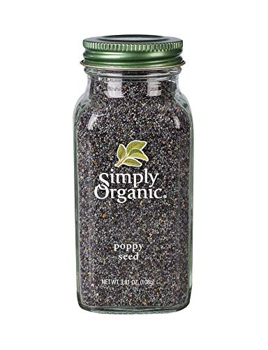 Simply Organic Food Flavor Poppy Seed Whole 3.81 Oz Bottle