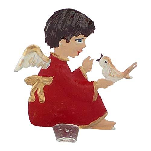 Zinngeschenke Setzkastenfigur Engel beidseitig von Hand bemalt aus Zinn (HxB) 3,3 x 3,0 cm