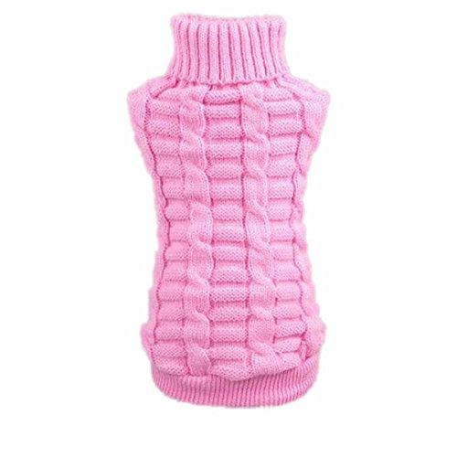 Culater® Moda Cane Vestiti Invernali Tridimensionale Maglione Cucciolo Vestiti di Lana (XL, Rosa)