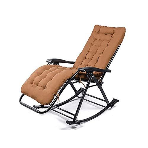 GFE Klapp Schaukelstuhl, tragbare Schwerelosigkeit Stuhl, Sessel, für Büro Camping Beach Patio Pool Yard Outdoor,#4
