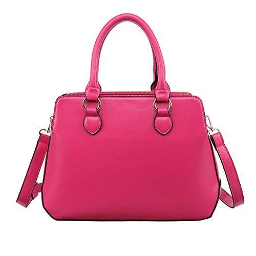 Femme Perfect Medium Fashion Top Tote Sac à main (Rose-rouge)