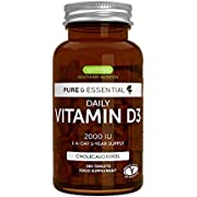Reviewmeta Com Pure Essential Vitamine D3 Quotidienne 2000iu Cholecalciferol 1 Par Jour 1 An D Approvisionnement Vegetarien 365 Petits Comprimes Amazon Review Analysis