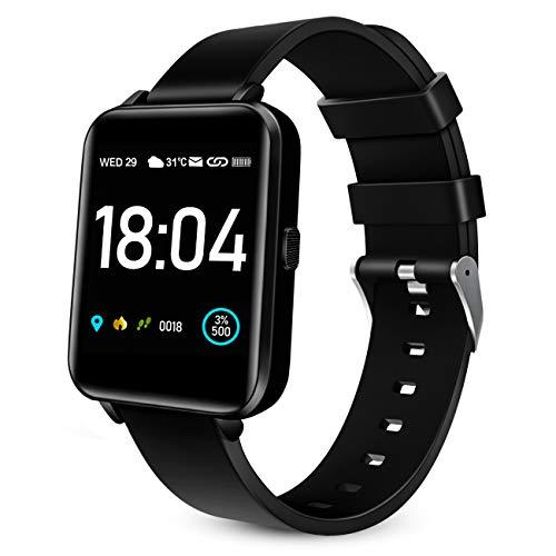 """Woyada Fitnessuhr Sport Uhr 1.54\"""" Touch Screen Smartwatch Fitness Tracker IP68 Wasserdicht mit Schrittzähler Pulsuhr Schlafmonitor Stoppuhr Blutdruckmessgerät Handgelenk Sportuhren Herren Damen"""