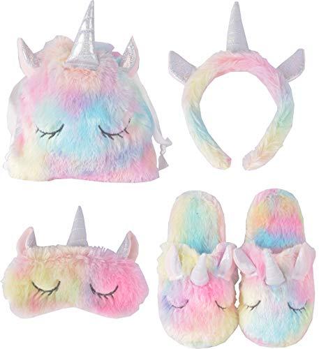 Unicorn Sleeping Mask, Unicorn Slipper,Unicorn Bags, Unicorn Horn Headband, Unicorn Sleeping Set for Kids Sleeping Party, Unicorn Sleeping Bag Set, Girl Unicorn Slippers, Unicorn Slippers for Girl