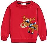 EULLA - Felpa da bambino per bambini, calda, in stile streetwear, 1-7 anni #3 Weihnachts Rentier 3 anni